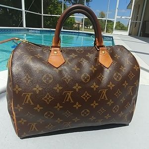 Louis Vuitton Monogram Speedy 30 Satchel bag